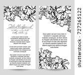 vintage delicate invitation... | Shutterstock .eps vector #727265122