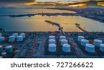 aerial view oil terminal is... | Shutterstock . vector #727266622
