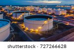 aerial view oil terminal is... | Shutterstock . vector #727266628