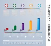 infographics template design... | Shutterstock .eps vector #727268482