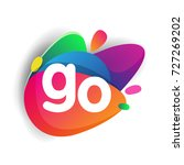 letter go logo with colorful...