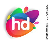 letter hd logo with colorful... | Shutterstock .eps vector #727269322