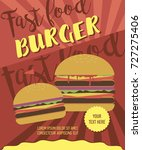 fast food poster for menu or... | Shutterstock .eps vector #727275406