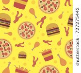 fast food seamless pattern for... | Shutterstock .eps vector #727275442
