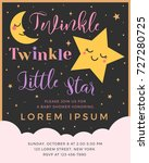 twinkle twinkle little star... | Shutterstock .eps vector #727280725