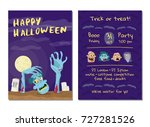halloween party invitation with ... | Shutterstock .eps vector #727281526