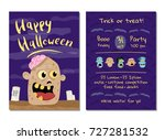 halloween party invitation with ... | Shutterstock .eps vector #727281532