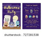 halloween party invitation with ... | Shutterstock .eps vector #727281538