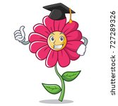 graduation pink flower... | Shutterstock .eps vector #727289326