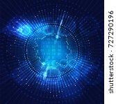 big data visualization.... | Shutterstock .eps vector #727290196