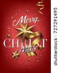 merry christmas background with ... | Shutterstock .eps vector #727291495