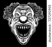 scary clown head concept of... | Shutterstock .eps vector #727292905