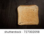 fried bread toast on a black... | Shutterstock . vector #727302058