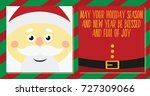 merry christmas and happy new... | Shutterstock .eps vector #727309066