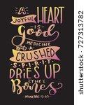 hand lettering a joyful heart... | Shutterstock .eps vector #727313782