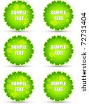 bright tags or badges | Shutterstock .eps vector #72731404