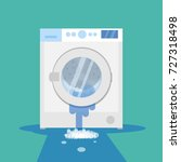broken washing machine with... | Shutterstock .eps vector #727318498