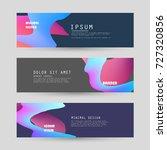 vector horizontal banner... | Shutterstock .eps vector #727320856