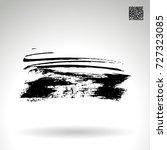 black brush stroke and texture. ... | Shutterstock .eps vector #727323085