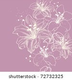 floral background with blooming ... | Shutterstock .eps vector #72732325