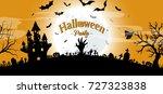 halloween party concept vector... | Shutterstock .eps vector #727323838
