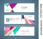 vector horizontal banner...   Shutterstock .eps vector #727327198