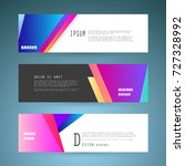vector horizontal banner... | Shutterstock .eps vector #727328992