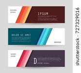 vector horizontal banner... | Shutterstock .eps vector #727329016