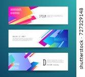 vector horizontal banner... | Shutterstock .eps vector #727329148