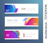 vector horizontal banner... | Shutterstock .eps vector #727329196