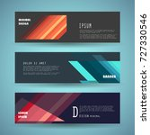 vector horizontal banner... | Shutterstock .eps vector #727330546