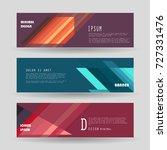vector horizontal banner... | Shutterstock .eps vector #727331476