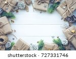 gift boxes collection wrapped... | Shutterstock . vector #727331746