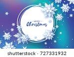 origami christmas greetings... | Shutterstock .eps vector #727331932