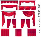 curtains and draperies interior ... | Shutterstock .eps vector #727331986