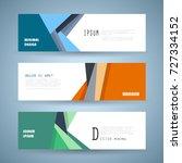vector horizontal banner...   Shutterstock .eps vector #727334152