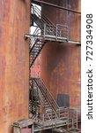 weathered rundown industrial... | Shutterstock . vector #727334908