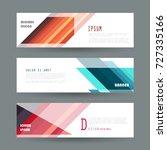 vector horizontal banner... | Shutterstock .eps vector #727335166