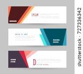 vector horizontal banner... | Shutterstock .eps vector #727336342