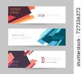 vector horizontal banner... | Shutterstock .eps vector #727336372