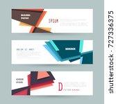 vector horizontal banner... | Shutterstock .eps vector #727336375