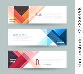 vector horizontal banner... | Shutterstock .eps vector #727336498