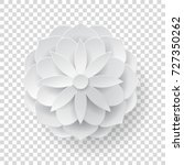 paper volume flower transparent ... | Shutterstock .eps vector #727350262