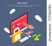 internet cyber attacks ... | Shutterstock .eps vector #727366282