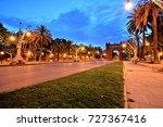 arc de triomphe in parc de la... | Shutterstock . vector #727367416