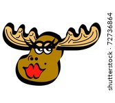 Moose Female Cartoon Smiling...