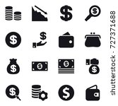 16 vector icon set   coin stack ... | Shutterstock .eps vector #727371688