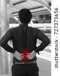 back pain  spinal issue  office ... | Shutterstock . vector #727373656