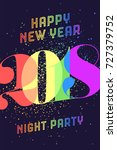 happy new year. greeting card... | Shutterstock .eps vector #727379752