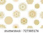 white and golden christmas... | Shutterstock .eps vector #727385176